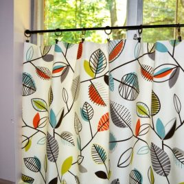 Covington Carson Fiesta Leaf Fabric .Cafe Curtain . Lined or Unlined