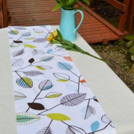 Table Runner . Covington Fiesta Leaf Design . Modern Decor . Nature Table Runner .