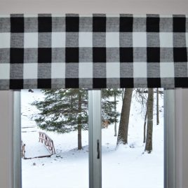 Black and White Buffalo Plaid Valance . Premier Prints Black and White Check  Lined or Unlined