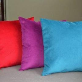Red Velvet Pillow Covers . Toss Pillows