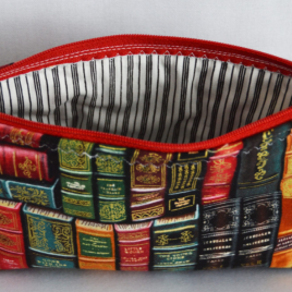 Library Books Makeup bag
