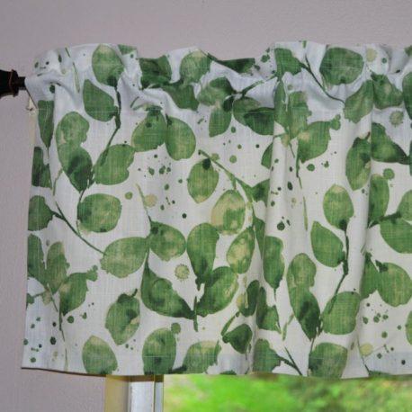 green leaf valance